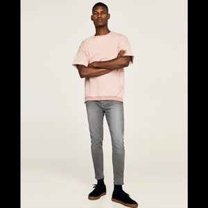 NWT Zara Z1975 Size Small Pastel Pink Top